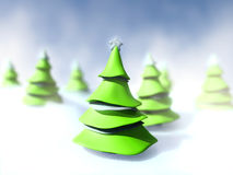 New Year's trees Royalty Free Stock Photo