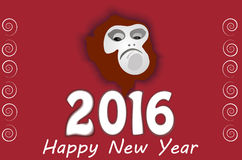 New Year. 's unpredictable fire monkey Stock Images