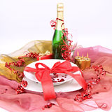 New Year's or Valentine's setting Stock Photos