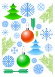 New Year's vector elements Royalty Free Stock Photos