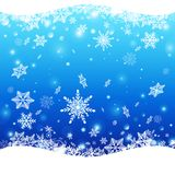 New Year`s winter pattern with snowflakes stock illustration