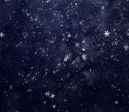 New Year's winter snow background Stock Images