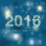 2016 New Year's wish. Vector abstract New Year's greeting card Royalty Free Stock Images