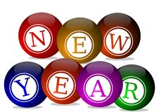 New Year's wishes Stock Images