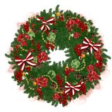 New Year's wreath Stock Images