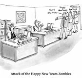 New Year's Zombies Royalty Free Stock Photo