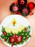 New year salad creative meal Royalty Free Stock Photo