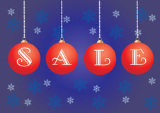New Year Sale. Poster for your commercial announcement about holidays sale, illustration, see more at my portfolio royalty free illustration