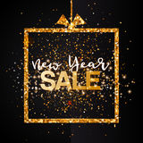 New Year Sale banner background Stock Image