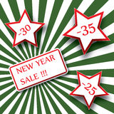 New year sale banner Royalty Free Stock Photos