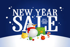 New year sale banner. Stock Image