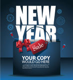 New Year sale design Stock Photos