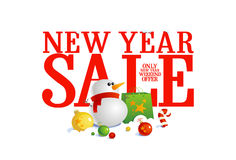 New year sale design. Stock Photos