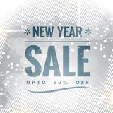 New year sale. Happy new year seasonal sale design vector illustration