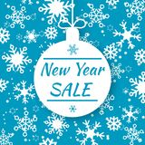 New Year sale. Special offer vector tag. Shop market poster design Royalty Free Stock Photography