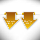 New Year sale tag Stock Images