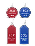New Year sale tag. Illustration of Sale Tags for New Year Stock Photos