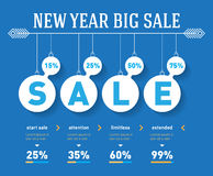 New year sale time line graph. Vector social activity infographi Royalty Free Stock Photos