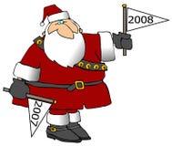 New Year Santa Stock Photo