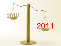 New Year scales Stock Images