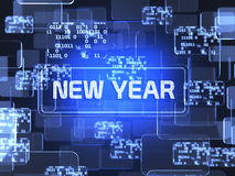 New Year screen concept Royalty Free Stock Photos