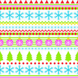 New Year seamless background pattern from the ranks of snowflakes. Stock Image