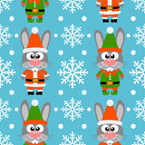 New Year seamless card with rabbits Stock Images