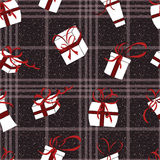 New year seamless pattern. Christmas design. Stock Photos