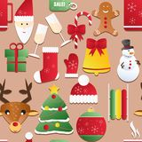 New year seamless pattern. Endless Christmas template Royalty Free Stock Photo