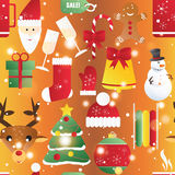 New year seamless pattern. Endless Christmas template Stock Photos