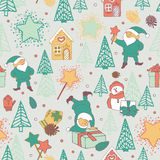 New Year seamless pattern Royalty Free Stock Photography