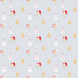 New year seamless vector pattern Royalty Free Stock Image