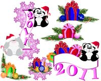 New year set Stock Photo