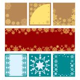 New Year set of banners with snowflakes. Vector festive flyers vector illustration