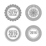 New Year set, labels and emblems,  illustration. New Year set, labels and emblems in retro style,  illustration Royalty Free Stock Images