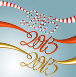 2015 New Year  set Stock Photo