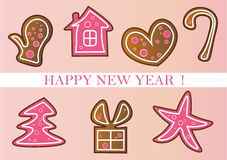 New year set Stock Photography