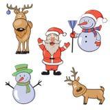 New Year set Stock Image