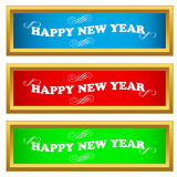 New year set. On a white background Royalty Free Stock Images