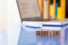 New year 2015, setting goals for business success Royalty Free Stock Images
