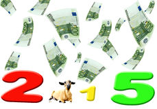 Chinese New Year 2015 Goat (Sheep) Stock Photo