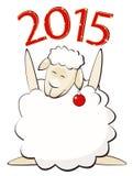 New year 2015. Sheep (eps.10 Stock Illustration