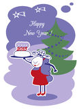 New Year Sheep Royalty Free Stock Photos