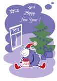 New Year Sheep Royalty Free Stock Photo