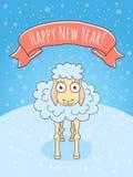 New Year Sheep Stock Image