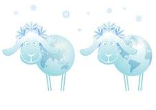 New Year sheep 2015 Stock Photos