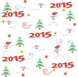 2015 new year, sheep. vector illustration. 2015 new year card with white sheep. vector illustration Royalty Free Illustration