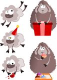 New Year 2015 sheeps Stock Photo