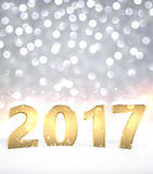 2017 New Year shining background. Vector illustration Stock Photos