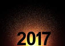 2017 New Year shining background. Vector illustration Stock Photo